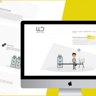 "Svetainės dizainas  Užsakovas: ""LLD Law Firm"" T. L. (Lietuva)"