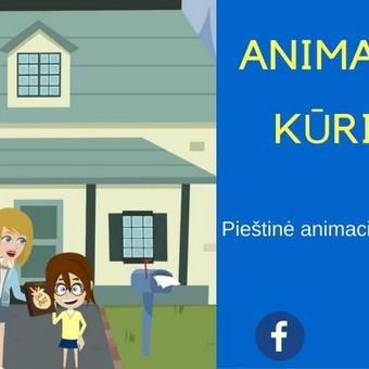 2D spalvota video animacija