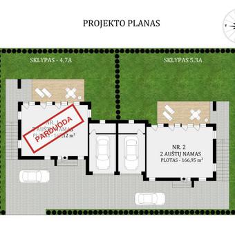 3D planai, 2D planai, vizualizacijos / Elina / Darbų pavyzdys ID 501341