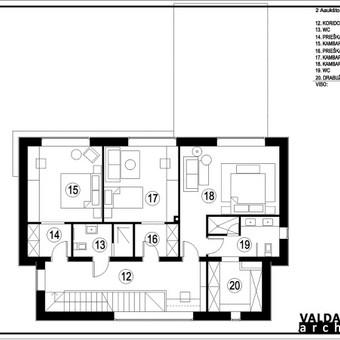 Atestuotas Architektas Vilniuje/Kaune-Gyvenamų n. projektai / Valdas Barvainis / Darbų pavyzdys ID 502815