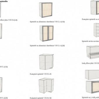 <p>Pakabinamų virtuvinių spintelių ruošiniai (standartiniai projektai)</p>
