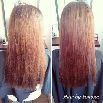 Plaukų tiesinimas ir atstatymas keratinu, plaukų poliravimas / Simona Štreimikienė / Darbų pavyzdys ID 504503