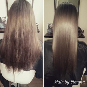Plaukų tiesinimas ir atstatymas keratinu, plaukų poliravimas / Simona Štreimikienė / Darbų pavyzdys ID 504505
