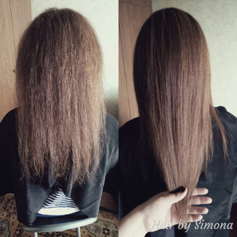 Plaukų tiesinimas ir atstatymas keratinu, plaukų poliravimas / Simona Štreimikienė / Darbų pavyzdys ID 504507