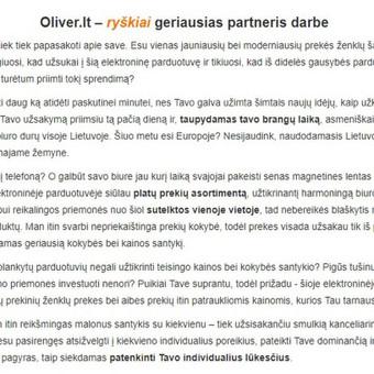 Tekstų kūrėja / Milda Žiūkaitė / Darbų pavyzdys ID 506433