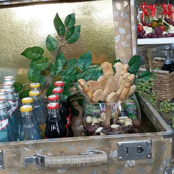 Stilingas šventinis šampano- vaišių staliukas po ceremonijos / Ramunė / Darbų pavyzdys ID 507221
