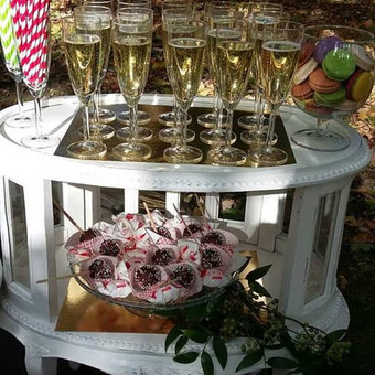 Stilingas šventinis šampano- vaišių staliukas po ceremonijos / Ramunė / Darbų pavyzdys ID 507227