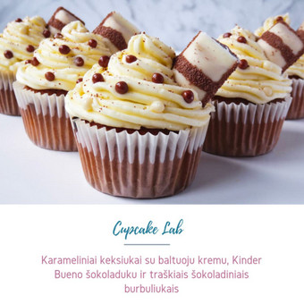 Cupcake Lab - laimės keksiukai / Eglė Jankauskaitė / Darbų pavyzdys ID 507769