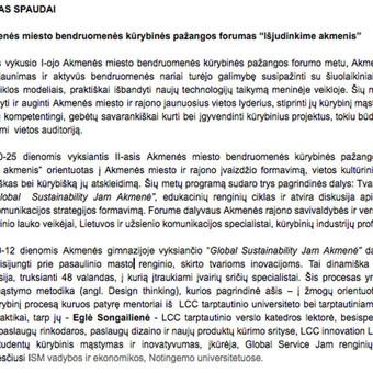 Tekstų kūrimas ir redagavimas / Simona Lubytė / Darbų pavyzdys ID 507979