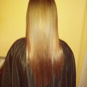 Plaukų tiesinimas ir atstatymas keratinu, plaukų poliravimas / Simona Štreimikienė / Darbų pavyzdys ID 509227