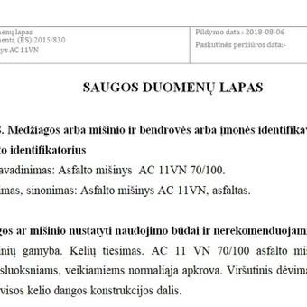 Saugos duomenų lapų paruošimas / Aušra Sakalovienė / Darbų pavyzdys ID 510283
