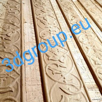 2D, 3D ir 4D frezavimas, 3D skenavimas / 3D Group EU, 3D Wood / Darbų pavyzdys ID 511049