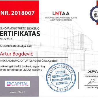 LNTAA sertifikuotas Nekilnojamojo turto brokeris / Artur Bogdevič / Darbų pavyzdys ID 511083