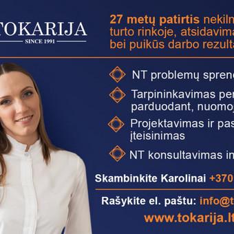 """Nuomos administravimas / IĮ """"Tokarija"""" / Darbų pavyzdys ID 511435"""