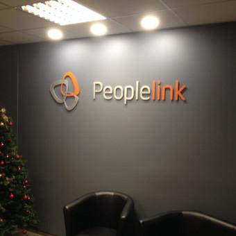 Įmonės logotipai aliuminio raidės, dažytos milteliniu būdu, atitraukta nuo sienos 9 mm