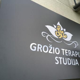 Įmonės logotipas PVC raidės su spauda