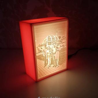 3D spausdinta nuotrauka su dėžute