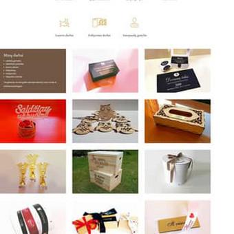 Reklamos agentūros internetinis puslapis. www.saulinga.lt