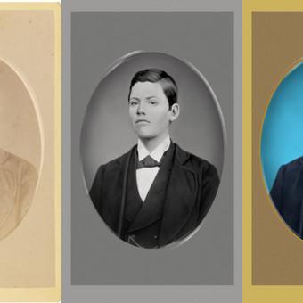 senos nuotraukos restauravimas, spalvinimas