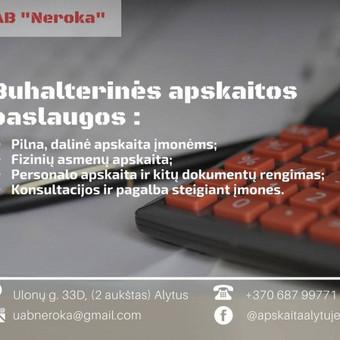 Buhalterinė apskaita / UAB Neroka / Darbų pavyzdys ID 515429