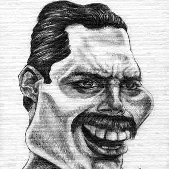 Freddie Mercury šaržas.