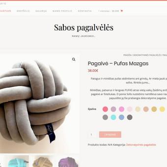 Interneto svetanių ir el.parduotuvių kūrimas ir priežiūra / Lina Va / Darbų pavyzdys ID 519693