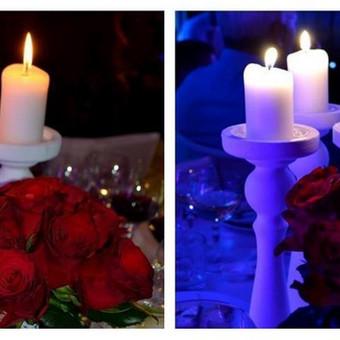 Baltos žvakidės. Turime daugiau