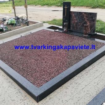 Paminklų, antkapių gamyba, kapų tvarkymo paslaugos / TVARKINGA KAPAVIETĖ / Darbų pavyzdys ID 524725