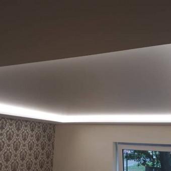 Atliekame įtempiamų lubų montavimo darbus / tomas / Darbų pavyzdys ID 524885