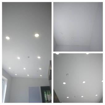 Atliekame įtempiamų lubų montavimo darbus / tomas / Darbų pavyzdys ID 524891