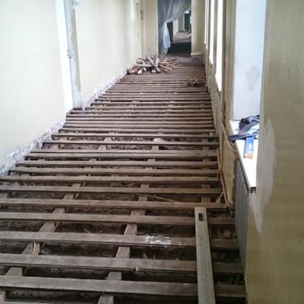 Grindų remonto darbai (pradžia)