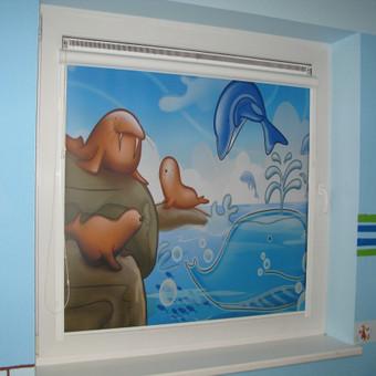 Fotoroletas vaikų kambaryje, panaudojus kliento duotą atvaizdo failą