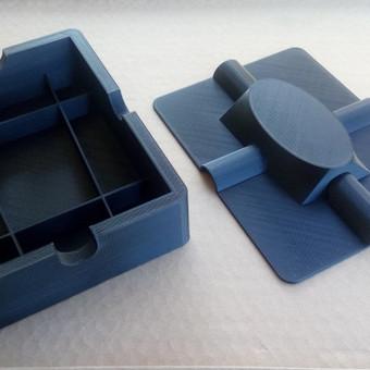 Suprojektuota ir pagaminta dėžutė