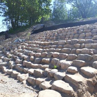 Akmens mūro darbai, Šlaitų ir pakrančių tvirtinimas.Atramine / Saulius / Darbų pavyzdys ID 526851