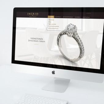 Int. svetainė ir logotipas INGRID juvelyrinių gaminių dirbtuvės. Reikalavimai - švarumas, lengva prabanga, minimalizmas.