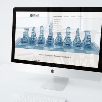 WEB dizainas ir logotipas SOLVUS teisinės paslaugos. Reikalavimai - lengvumas, aiškumas, solidumas. www.solvus.lt