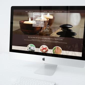 WEB dizainas ir logotipas JULIA'S SPA.