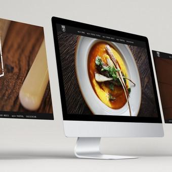 MOMO GRILL restorano int. svetainės dizainas. Dizainas taip pat pritaikytas mobiliems įrenginiams (planšetei ir telefonui). www.momogrill.lt
