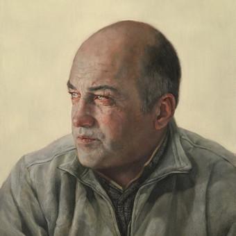 Tėvo portretas. Su kuriuo dalyvauvau prestižiniame British Portrait award konkurse. 50 x 60 cm. aliejus ant drobės