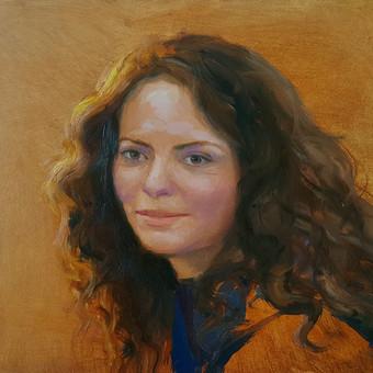 Rūtos portretas. Mažas tapybinis etiudas.