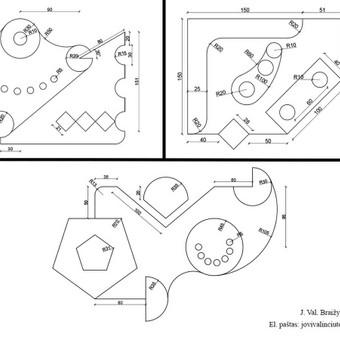 Brėžiniai Autocad programa / Jovita Valinčiūtė / Darbų pavyzdys ID 529257