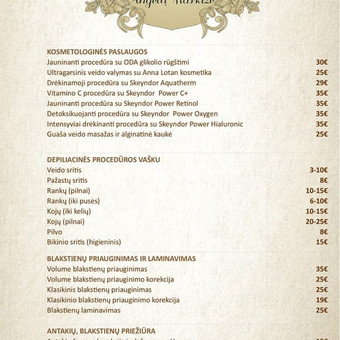 Kosmetologinės ir kitos grožio paslaugos / Eglė Babičiūtė / Darbų pavyzdys ID 532745