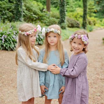 Šilko gėlių lankeliai