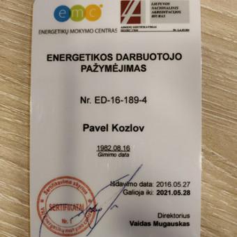 Elektrikas 860001840 Šiauliai / Pavelas / Darbų pavyzdys ID 534443