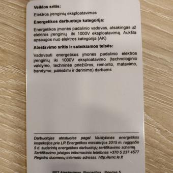 Elektrikas 860001840 Šiauliai / Pavelas / Darbų pavyzdys ID 534447