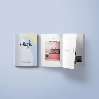 Įmonės įvaizdinio-informacinio leidinio dizainas ir maketavimas.