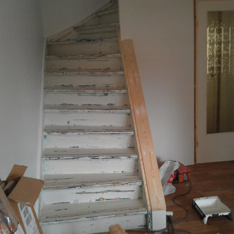 laiptų dažymas, renovavimas
