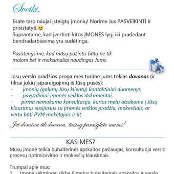 Buhalterinė apskaita. Įmonių steigimas / Daiva Aukštuolienė / Darbų pavyzdys ID 75314