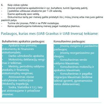 Buhalterinė apskaita. Įmonių steigimas / Daiva Aukštuolienė / Darbų pavyzdys ID 75316
