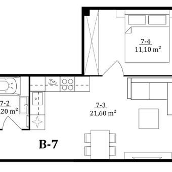 3D planai, 2D planai, vizualizacijos / Elina / Darbų pavyzdys ID 536589